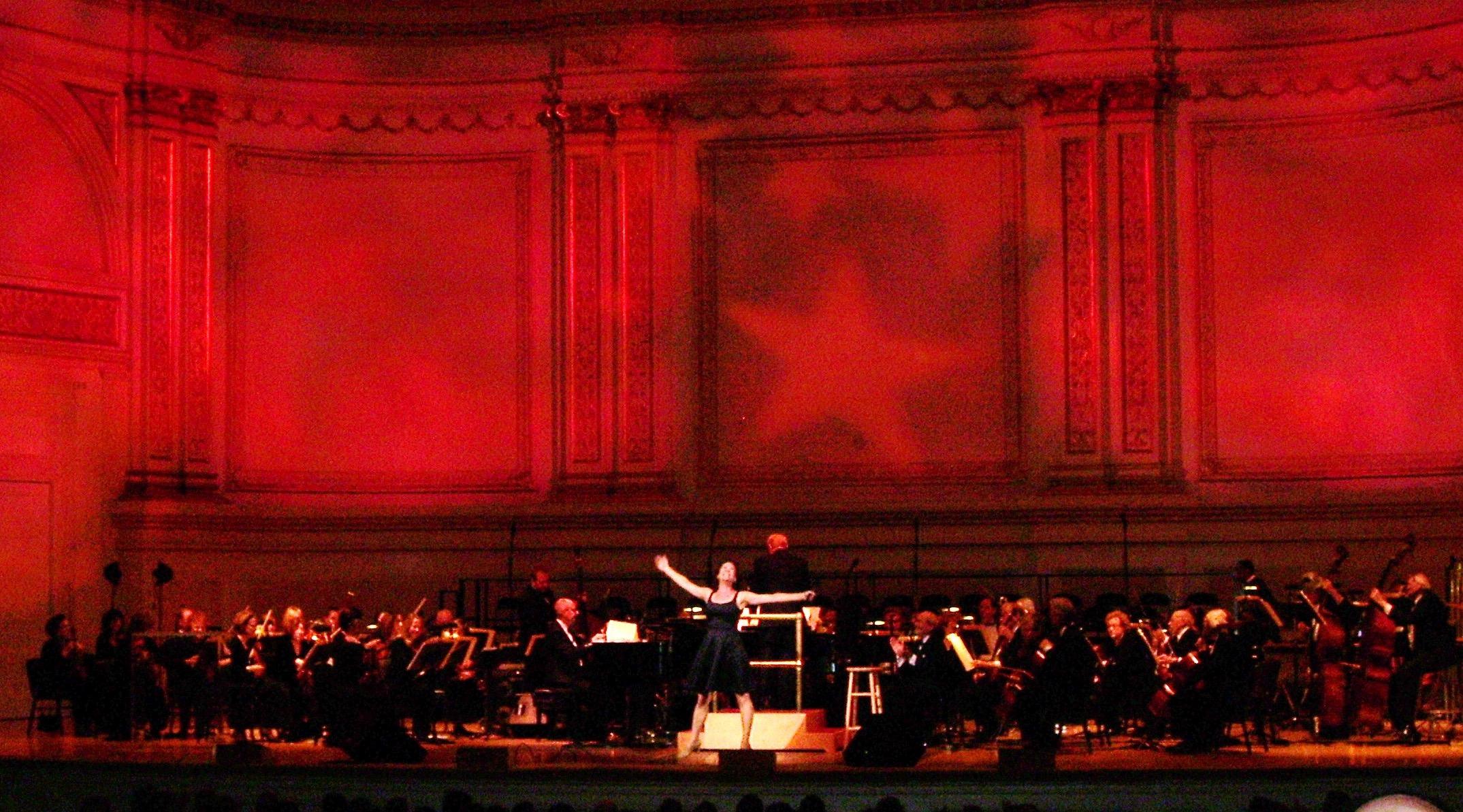 with Karen Ziemba and the New York Pops, Carnegie Hall