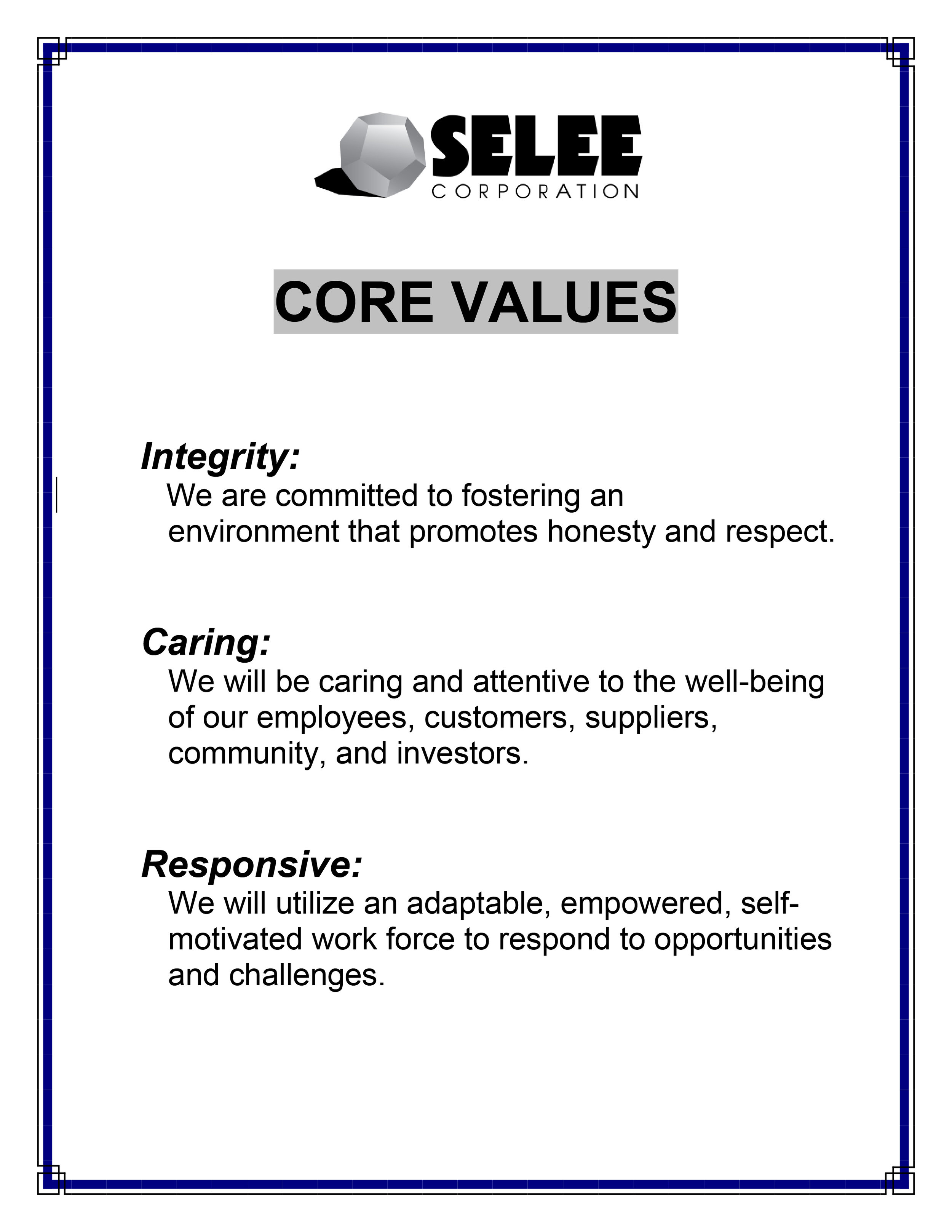 Core Values PDF Format