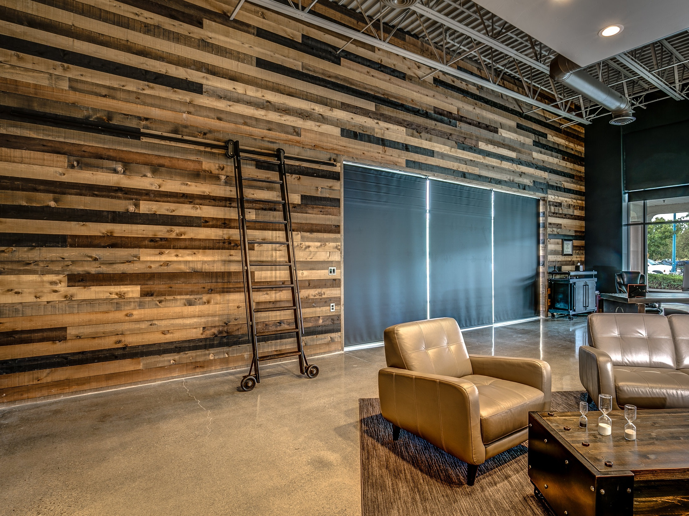 Accent wall in a box - GIVE YOUR WALL A RUSTIC FACELIFT