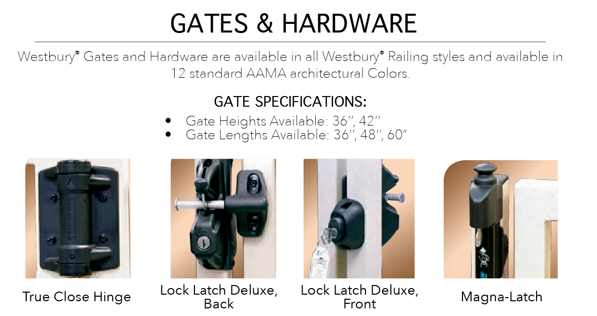 Westbury Railing Parts & Accessories — K & R Wholesale