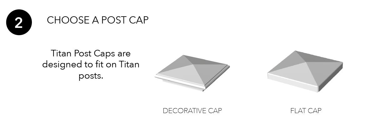 Titan Pro Rail Post Caps
