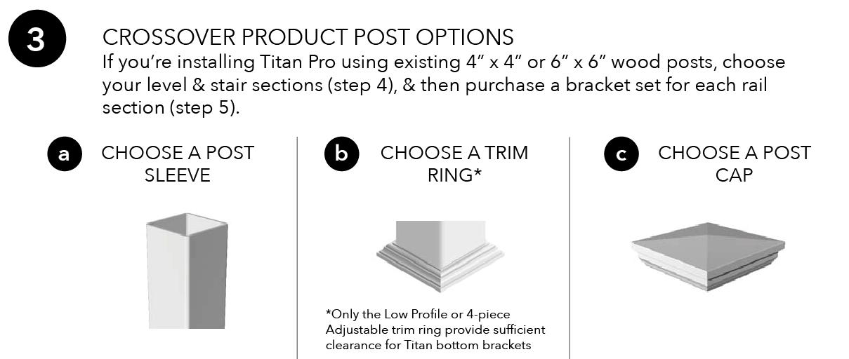 Titan Pro Rail Post Options
