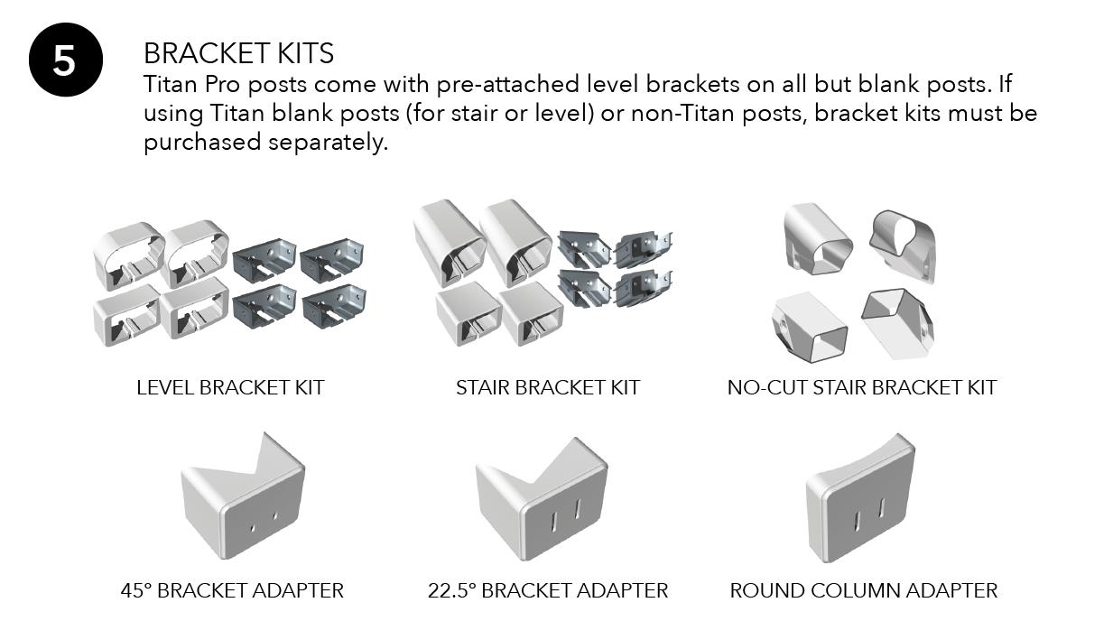 Titan Pro Rail Bracket Kits