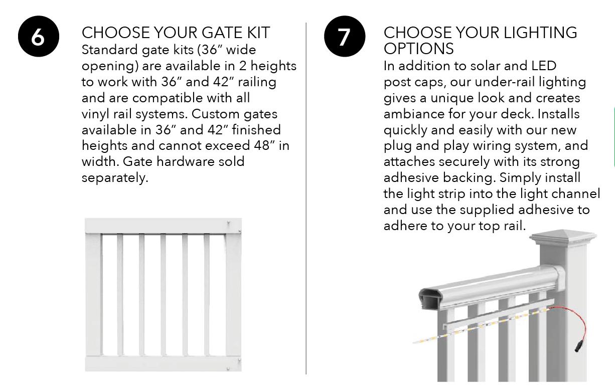 Titan Pro Rail Gate Kits + Lighting