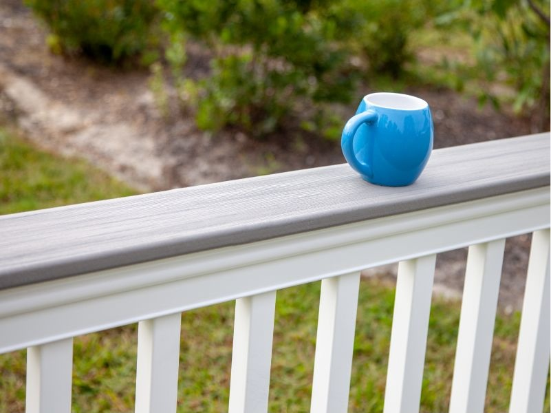Deck Board Top Rail - The Merrimack deck board adapter fits on top of the rail and allows for the addition of a DuraLife deck board. The perfect solution for resting drinks or plates while entertaining friends and family on your deck!