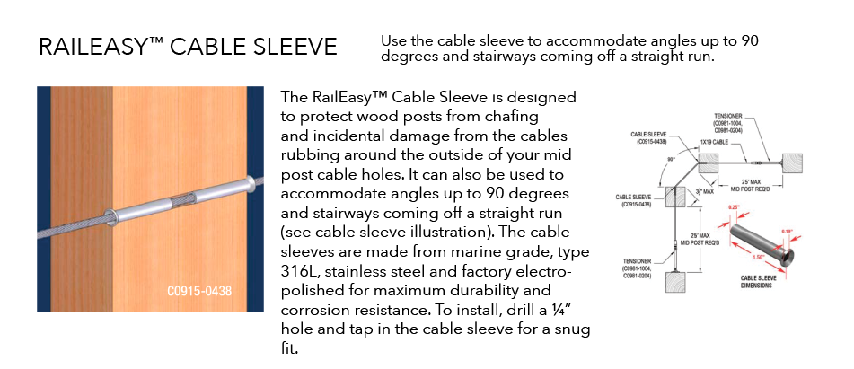 Raileasy Hardware Cable Sleeve