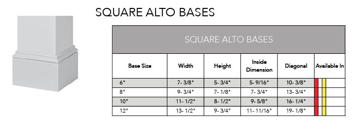 Square Alto Bases