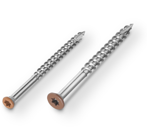 Headcote® - Stainless Screws with Color Coated Heads for Hardwood, Cedar, Redwood and Pressure Treated Decking
