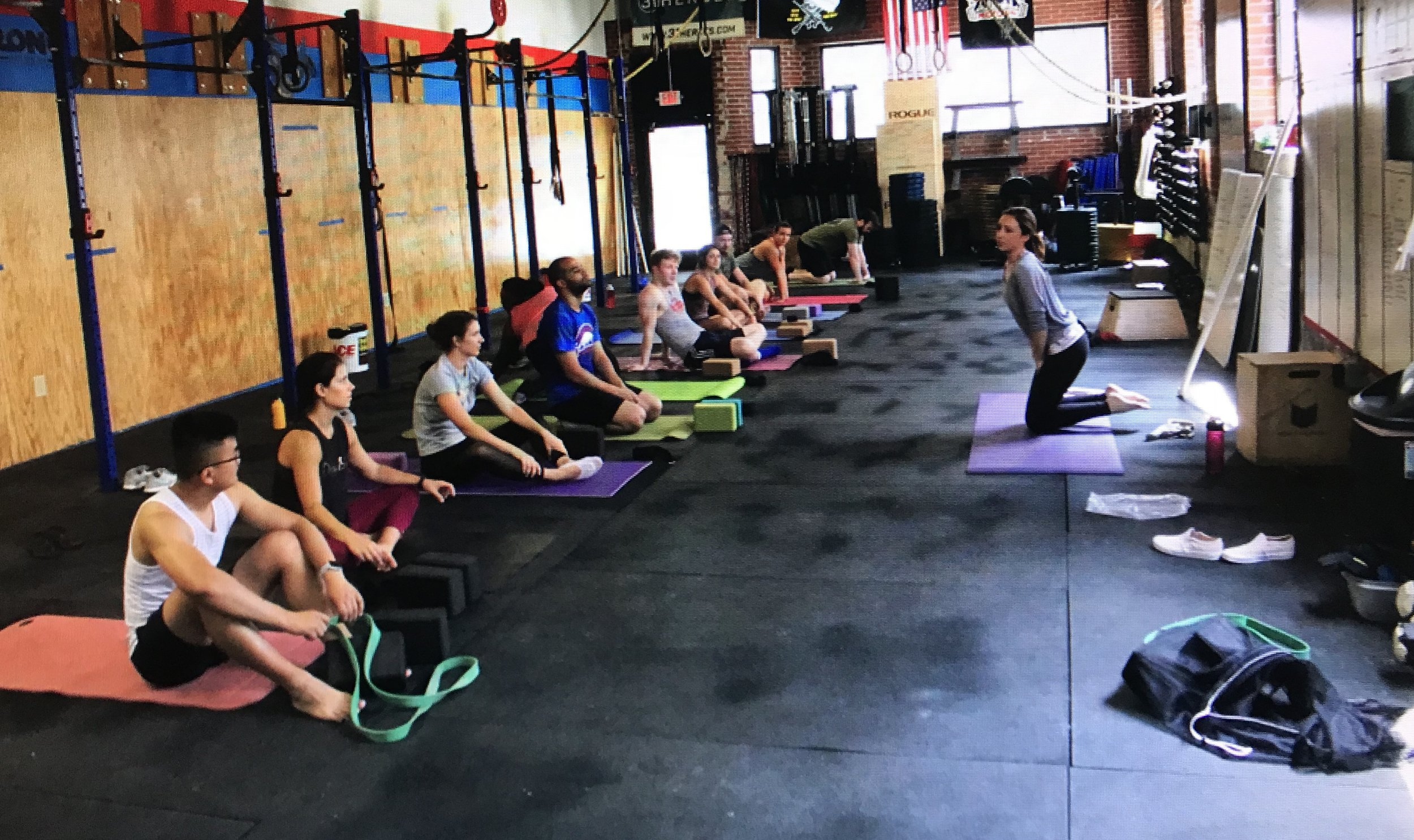 Weekly classes at CrossFit Midtown Atlanta - Love watching these yogi's transform over the years!!