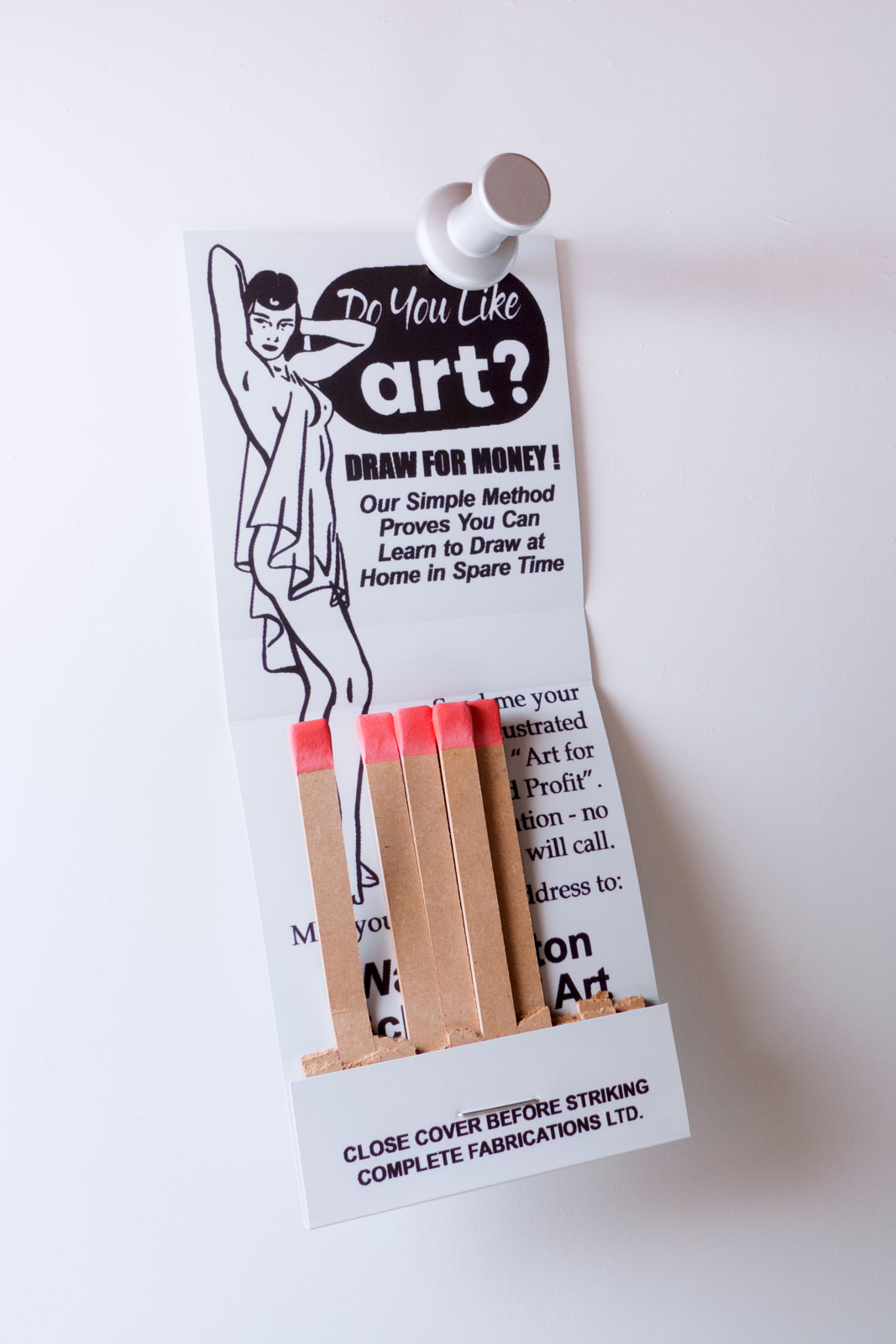 LEARN TO DRAW  mixed media 38 x 19 x 8 inches