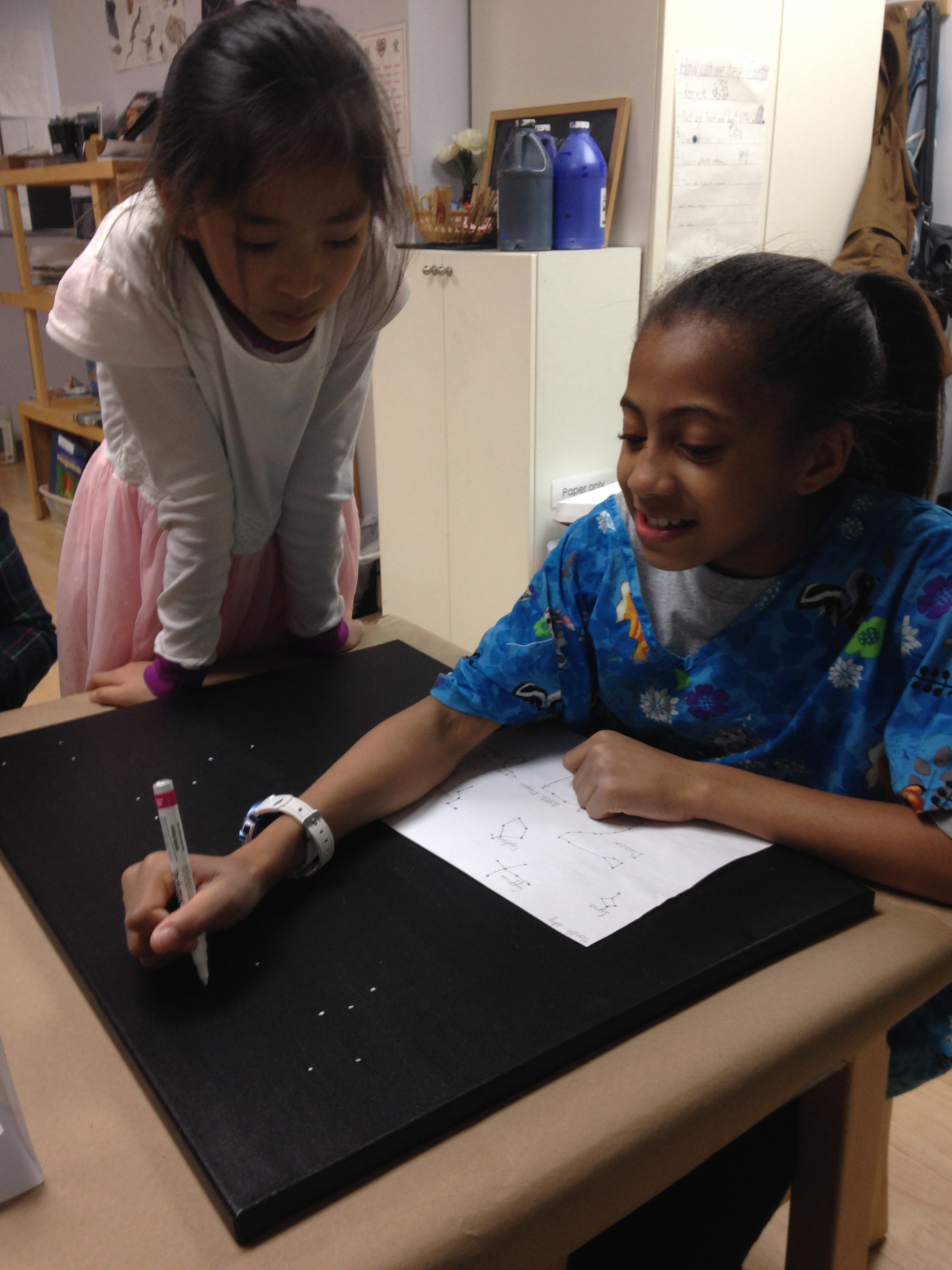 The Lower Elementary West students worked on their group project for the Waterfront School Foundation Gala.