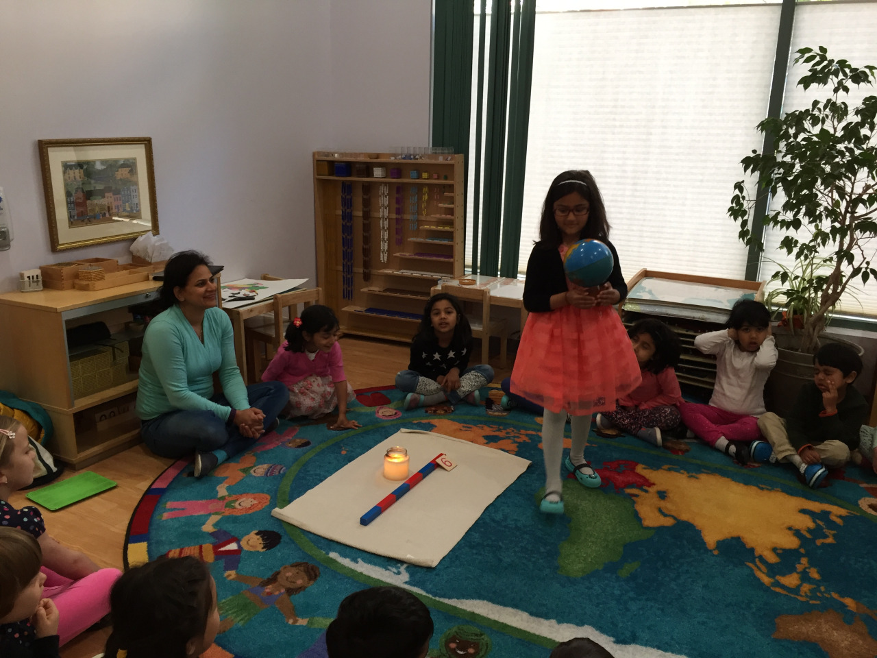 The Primary 2 class celebrated a Kindergarten student's sixth birthday!
