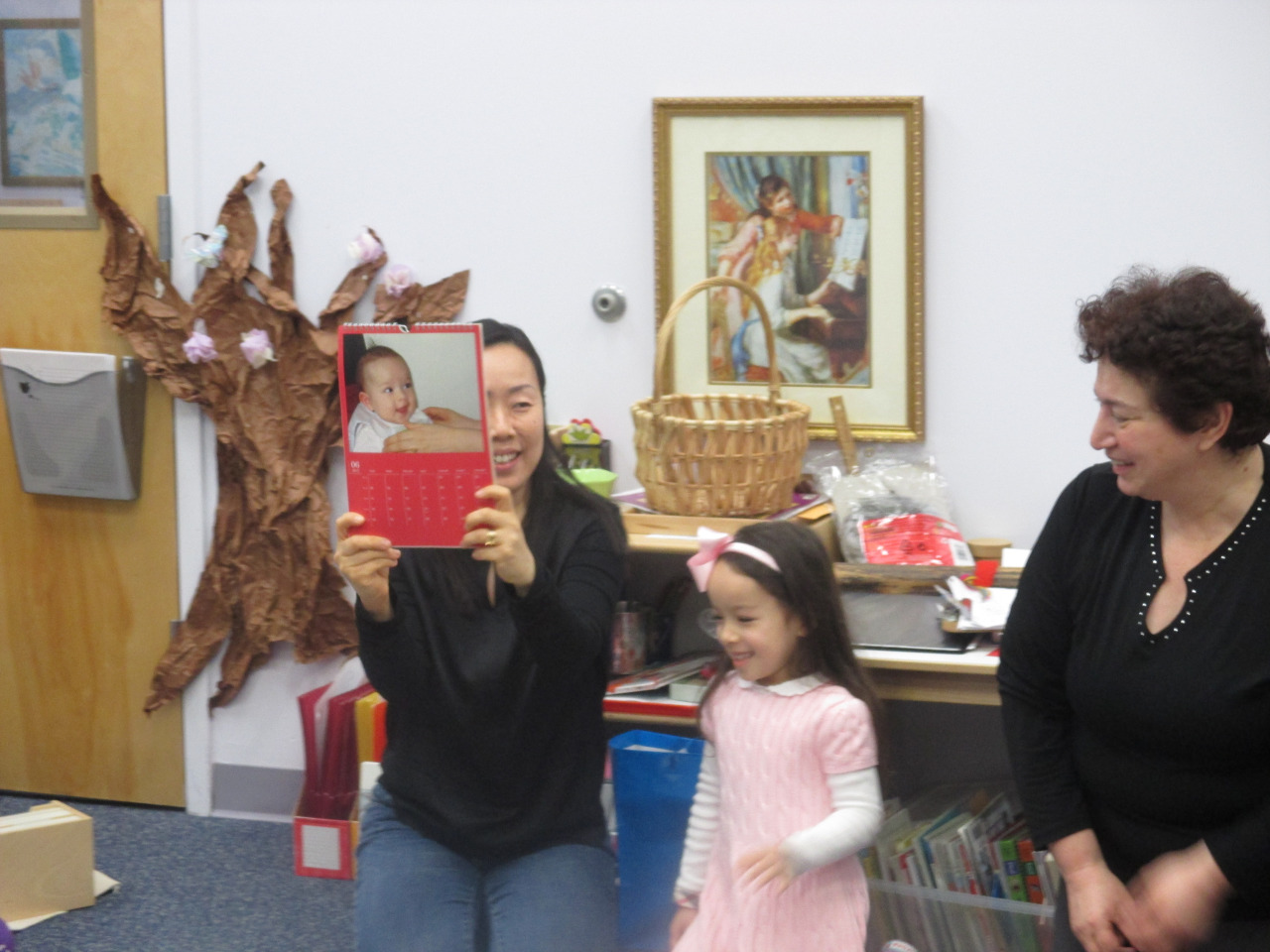 The Primary 1 class celebrated a milestone for a friend who turned five years old this month. The birthday child's parents helped the class celebrate this proud moment for the birthday girl and very graciously donated books for the class library.