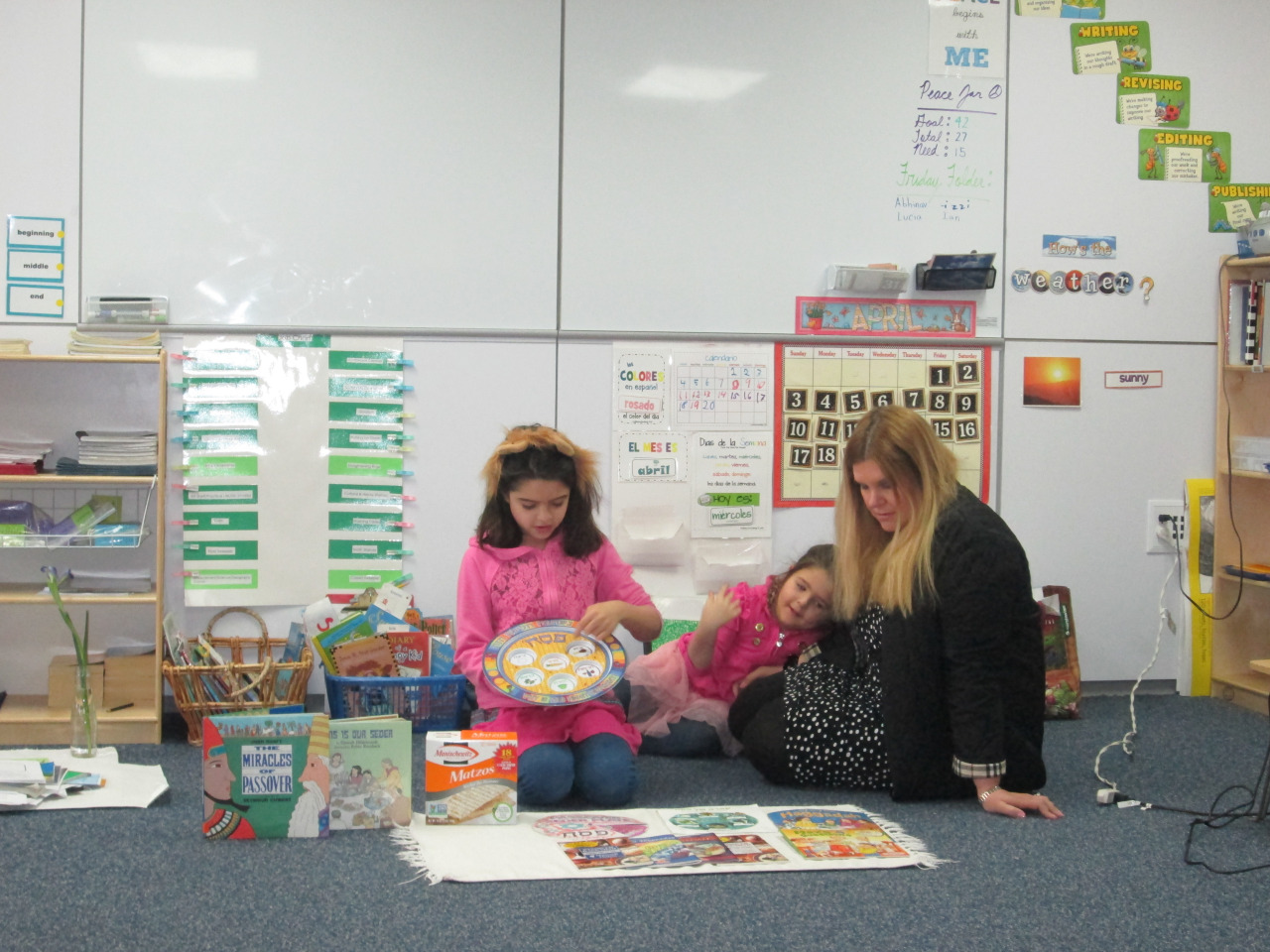 On Wednesday, a second grade Lower Elementary East student shared a presentation about Passover with her classmates, including the history and traditions of the holiday and objects associated with it.