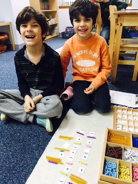 Lower Elementary West second grade students worked on follow ups about Distributive Property. They worked on adding and multiplying binomials using beads and number symbols.
