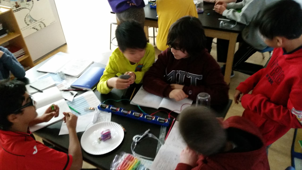 Middle School students built their own light bulbs as part of their recent Science unit with Mr. Matt.