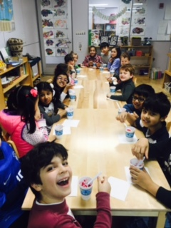 As a collaborative class project and part of the root study in Botany, the Lower Elementary West students made soup from various root vegetables. Everyone had a taste of the soup they made.