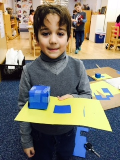The first year Lower Elementary West students are learning the foundations of Geometry by studying points, lines, surfaces and solids.