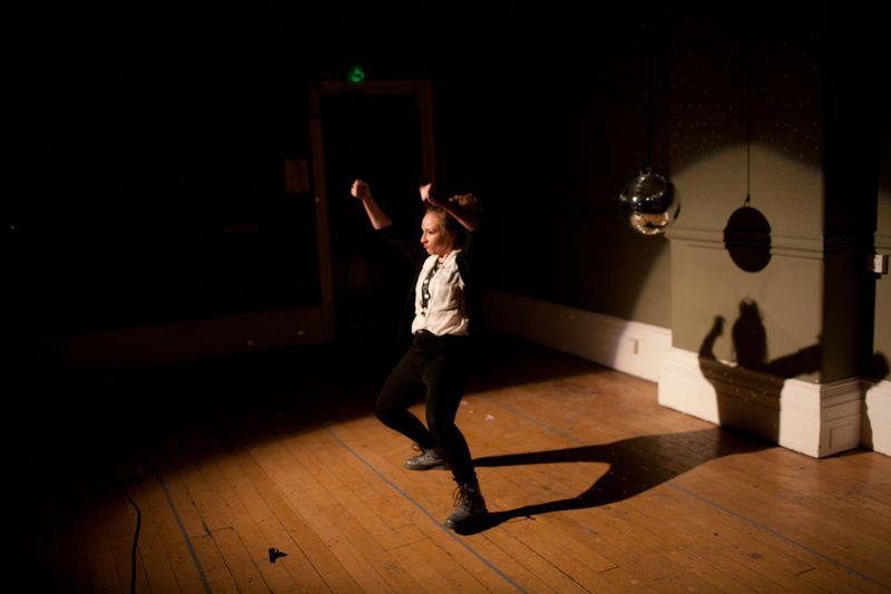 Rose Wardlaw performing in Smack Rabbit at Battersea Arts Centre