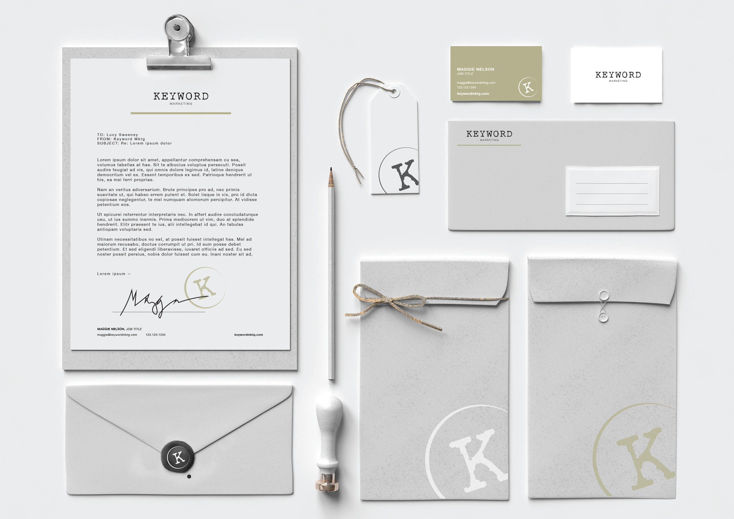 KEYWORD MARKETING, BRAND IDENTITY CONCEPT - 2015