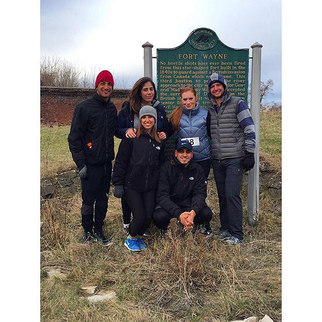 #teamMOG ran a 5K this morning! Sponsored by Street Med & Frank Student Run Clinics. | Historic Fort Wayne, Detroit, MI. | #5k #medicaloutreach #detroit