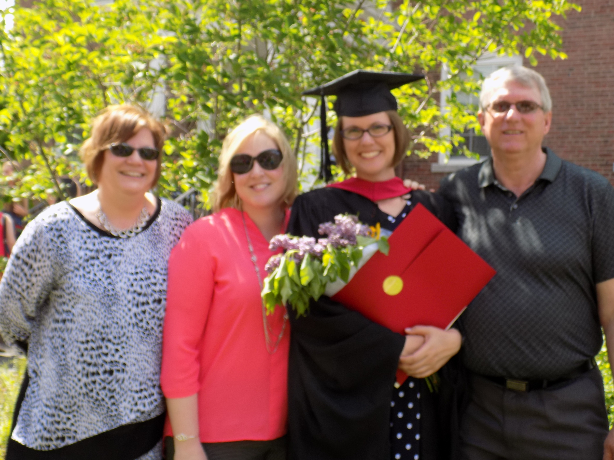 All smiles from my family after the HGSE graduation ceremony.