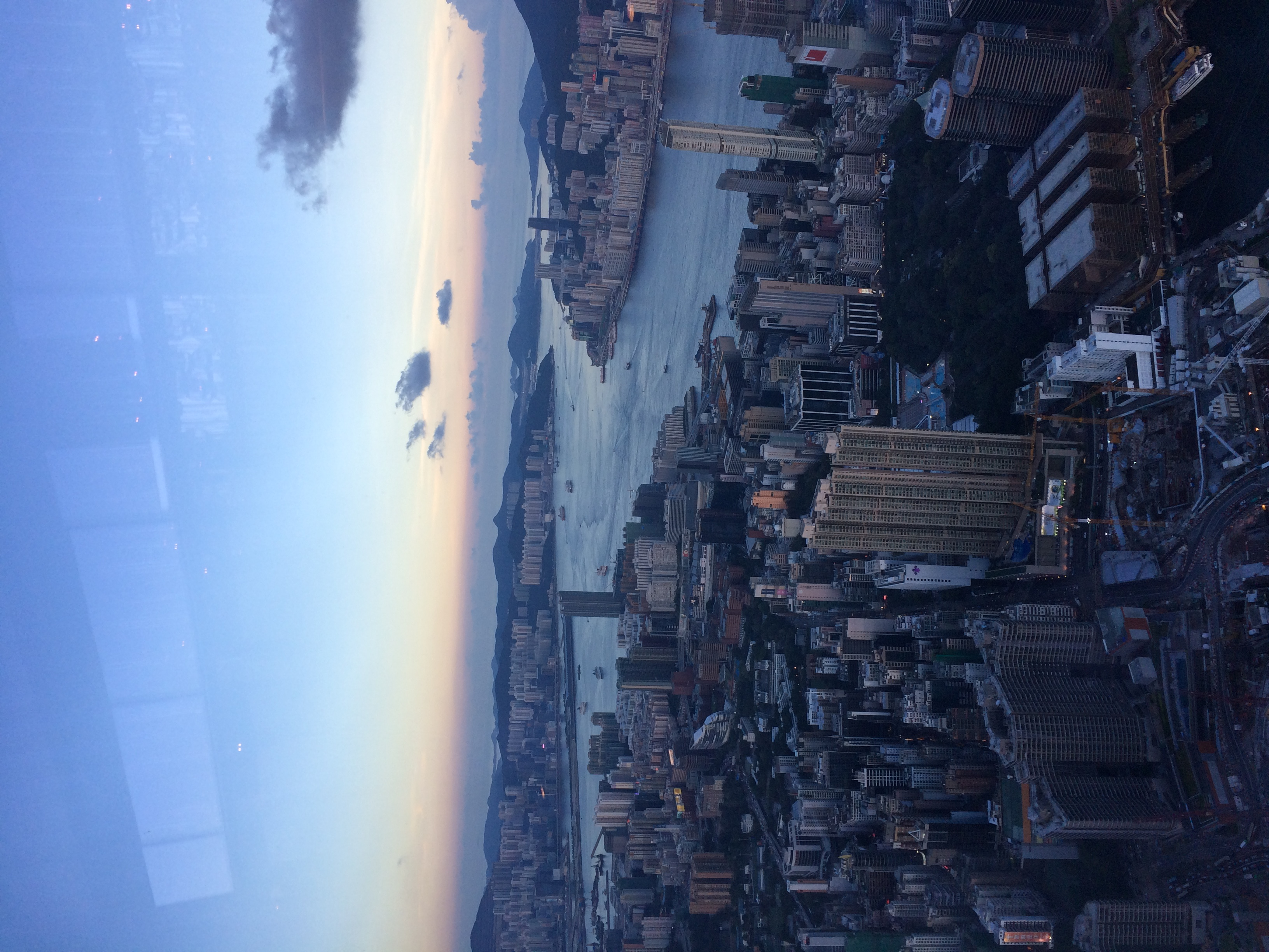 From Sky Bar in Hong Kong - the highest bar in the world