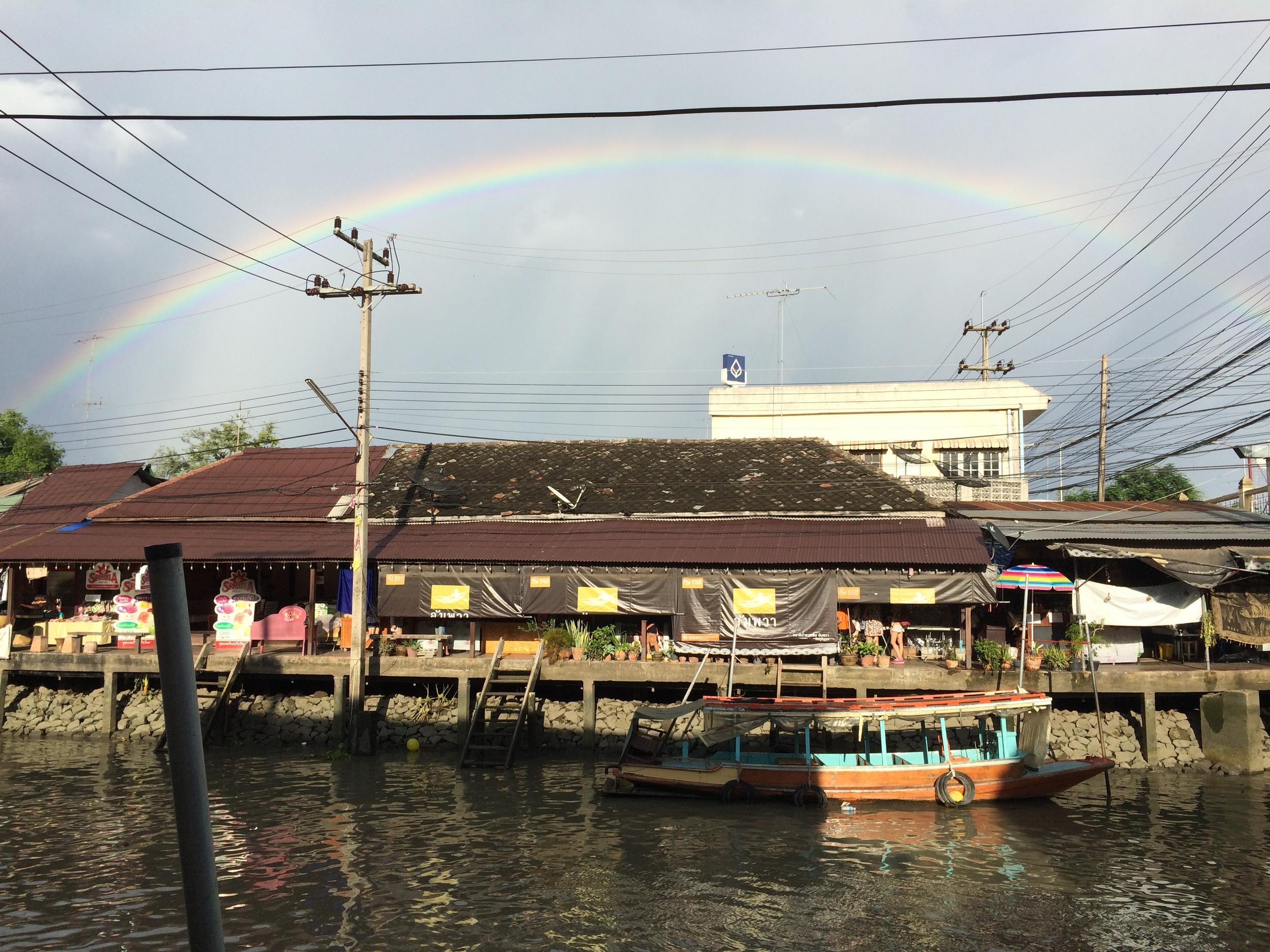 Amphawa Floating Market, after the rain