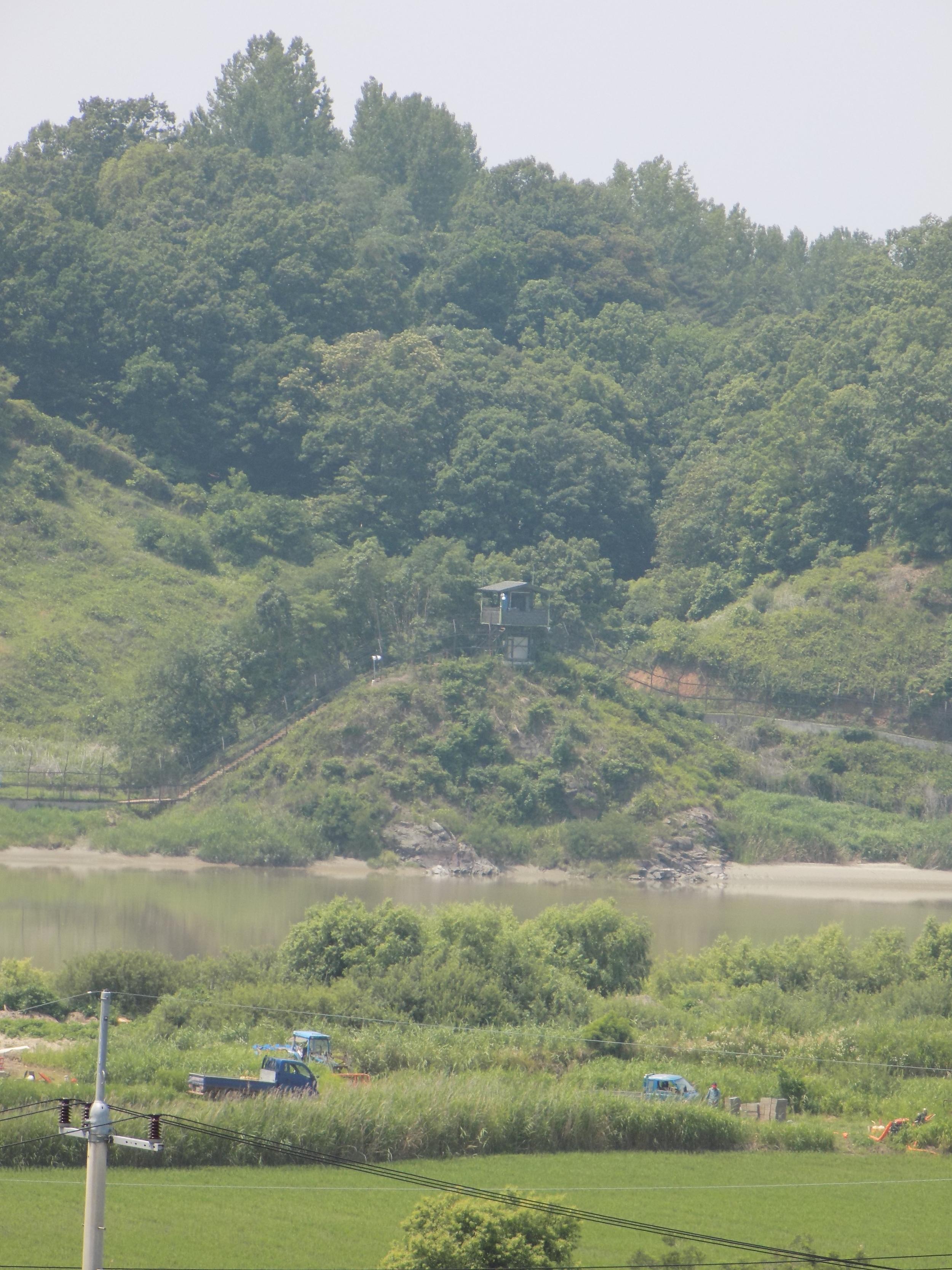 South Korean guard shack at the demarcation zone