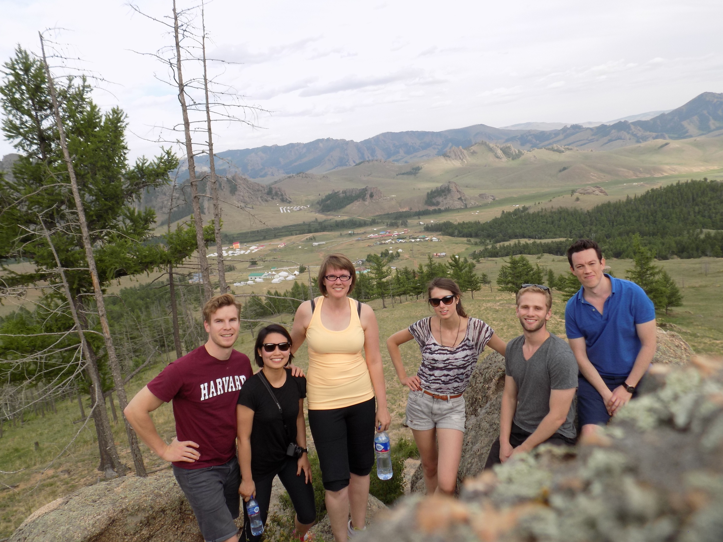 The few and mighty Trekkers who hiked up the mountain