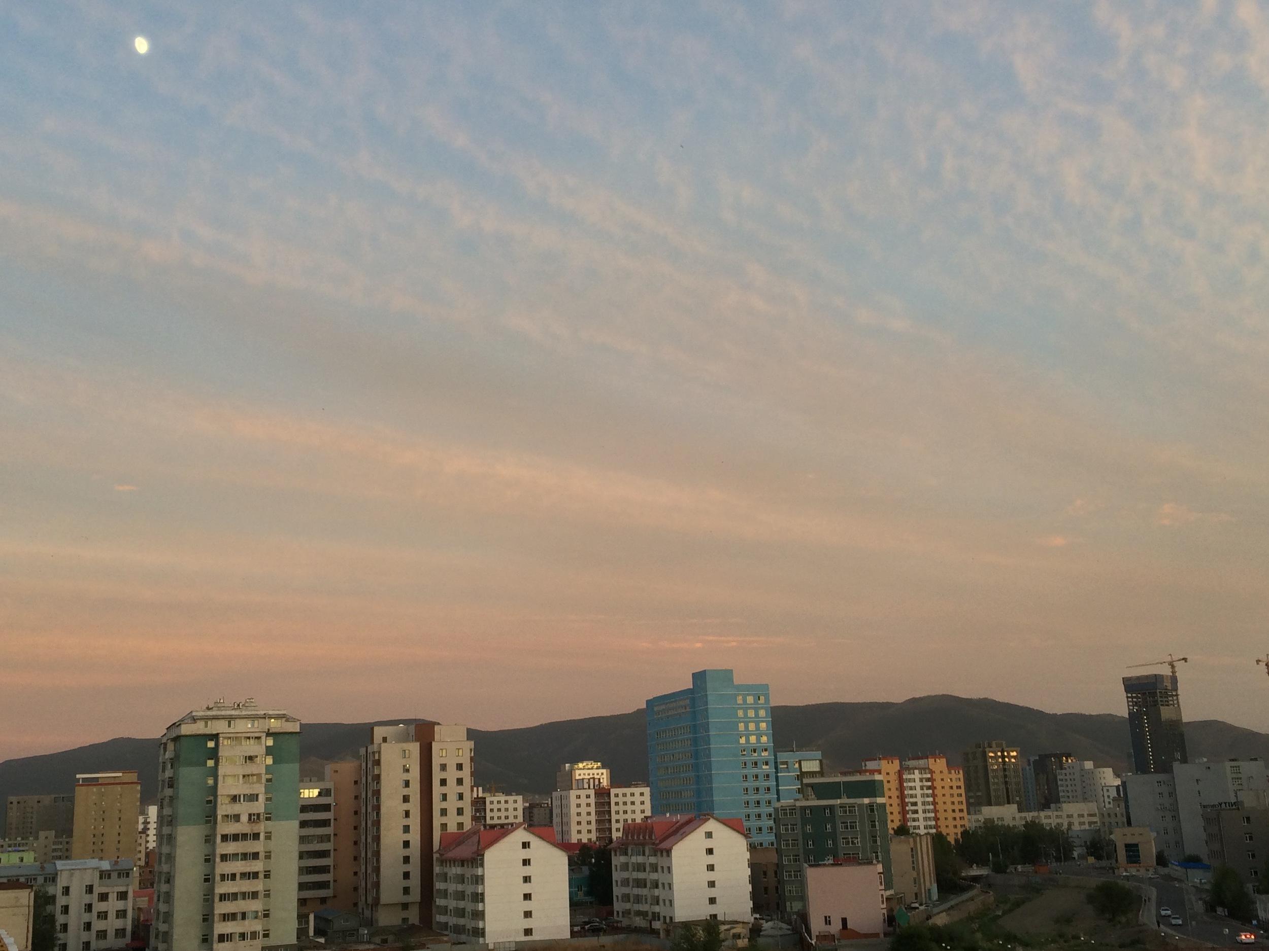 UlaanBaatar at dusk - picture taken at 10:15PM