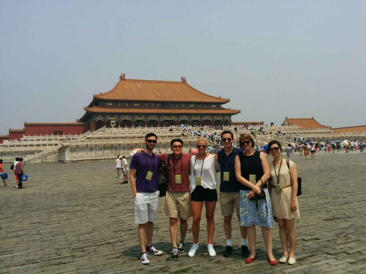 The Summer '15Teaching Fellows! Our first outing together at the Forbidden City.