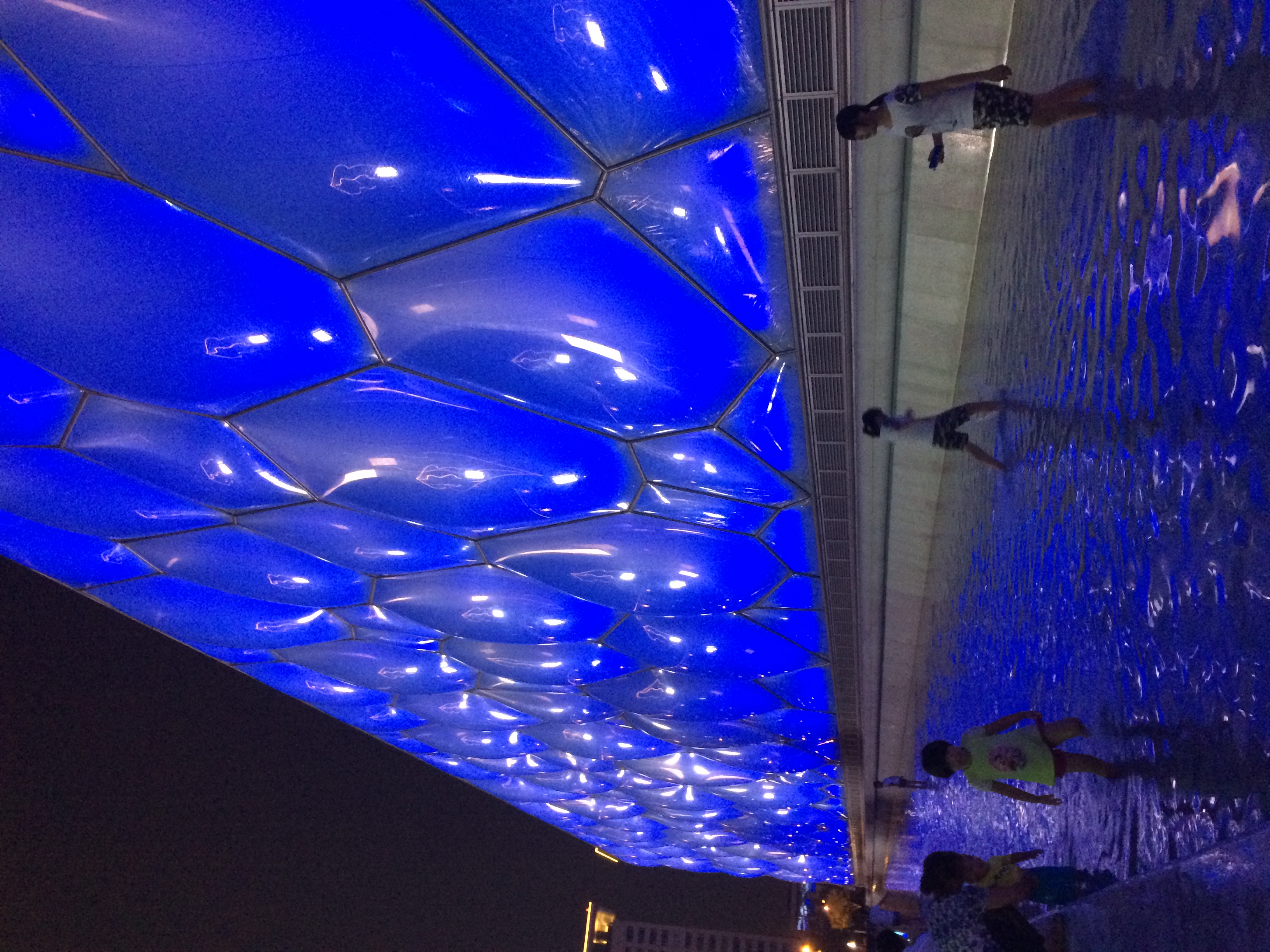 The Water Cube at night