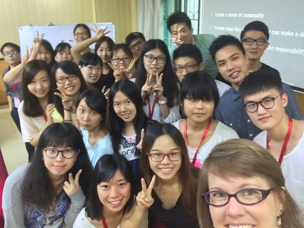 Guangzhou, China - session 1, leadership communications class