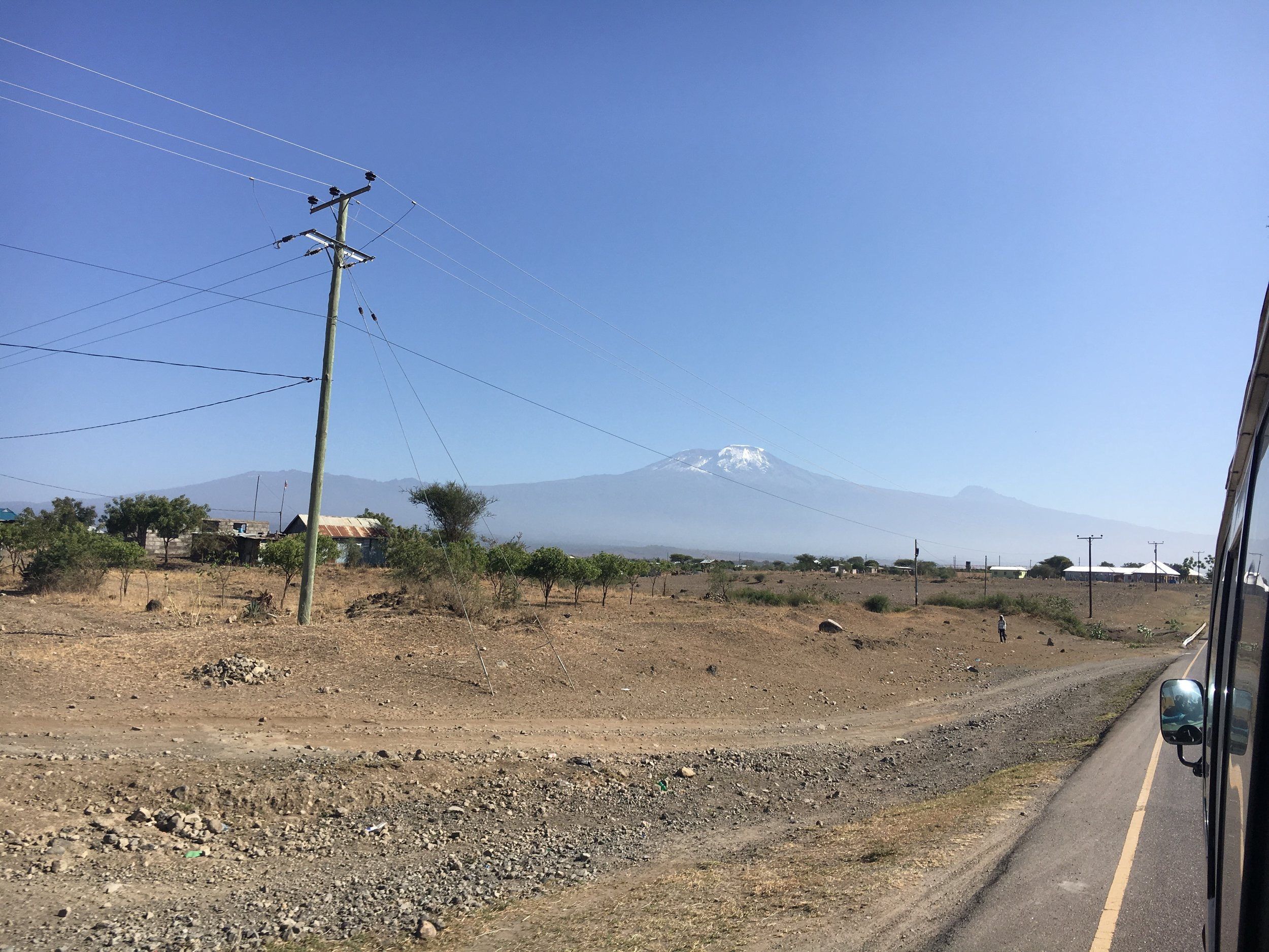 Another perspective, this time from the ground. This is where I started to get totally overwhelmed and nervous. I knew the mountain was big, but seeing Kili in person is a sight to behold. (Pic courtesy of hiking pal Jane!)