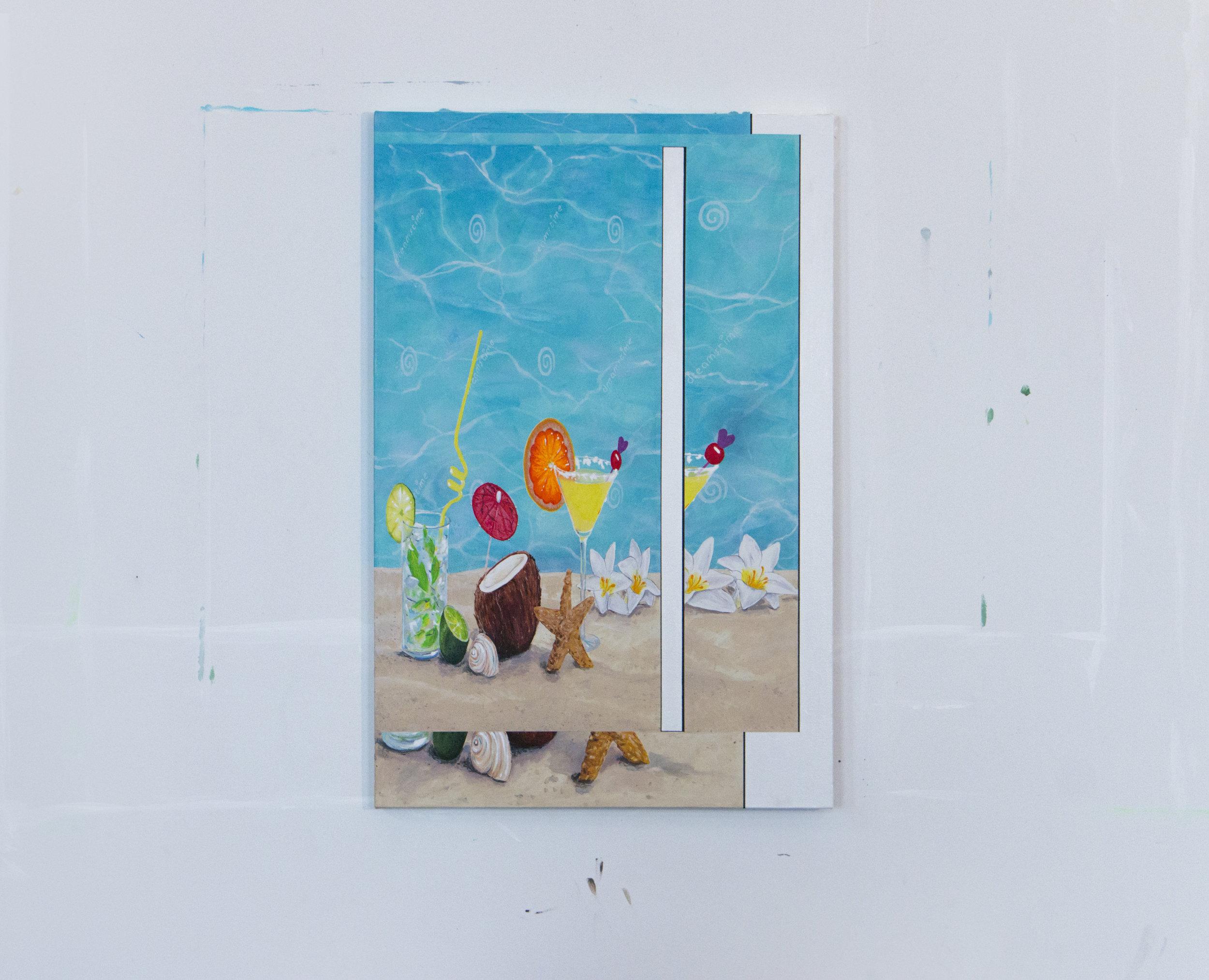 "Holiday on Holiday   acrylic on canvas 20"" x 28"""