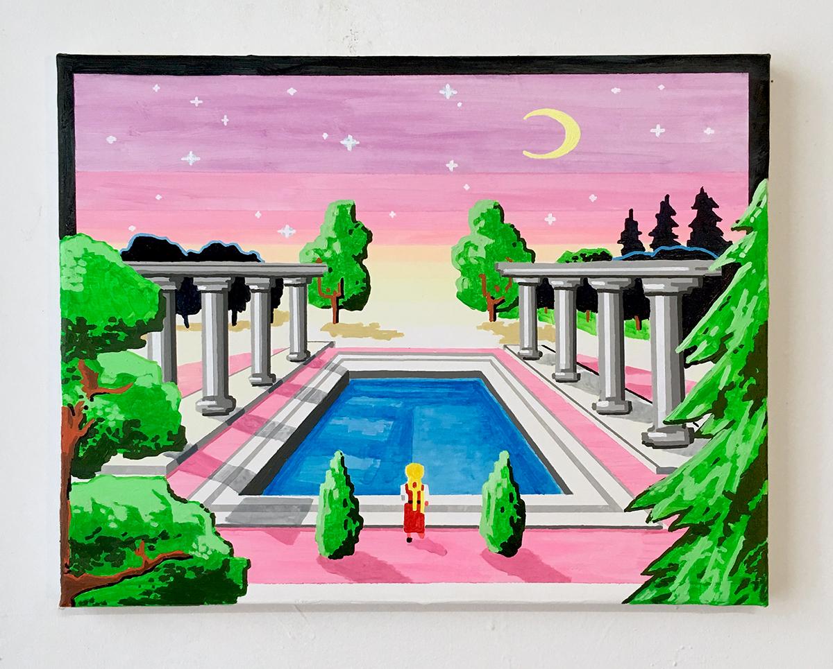 Mystic Reflector   acrylic on canvas