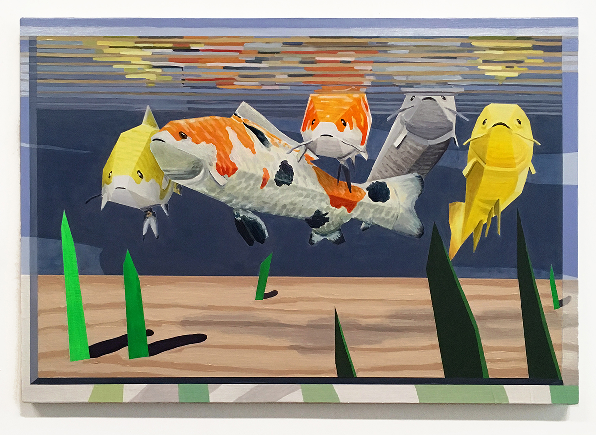 "Collective Gaze   oil and acrylic on canvas 30"" x 21"""