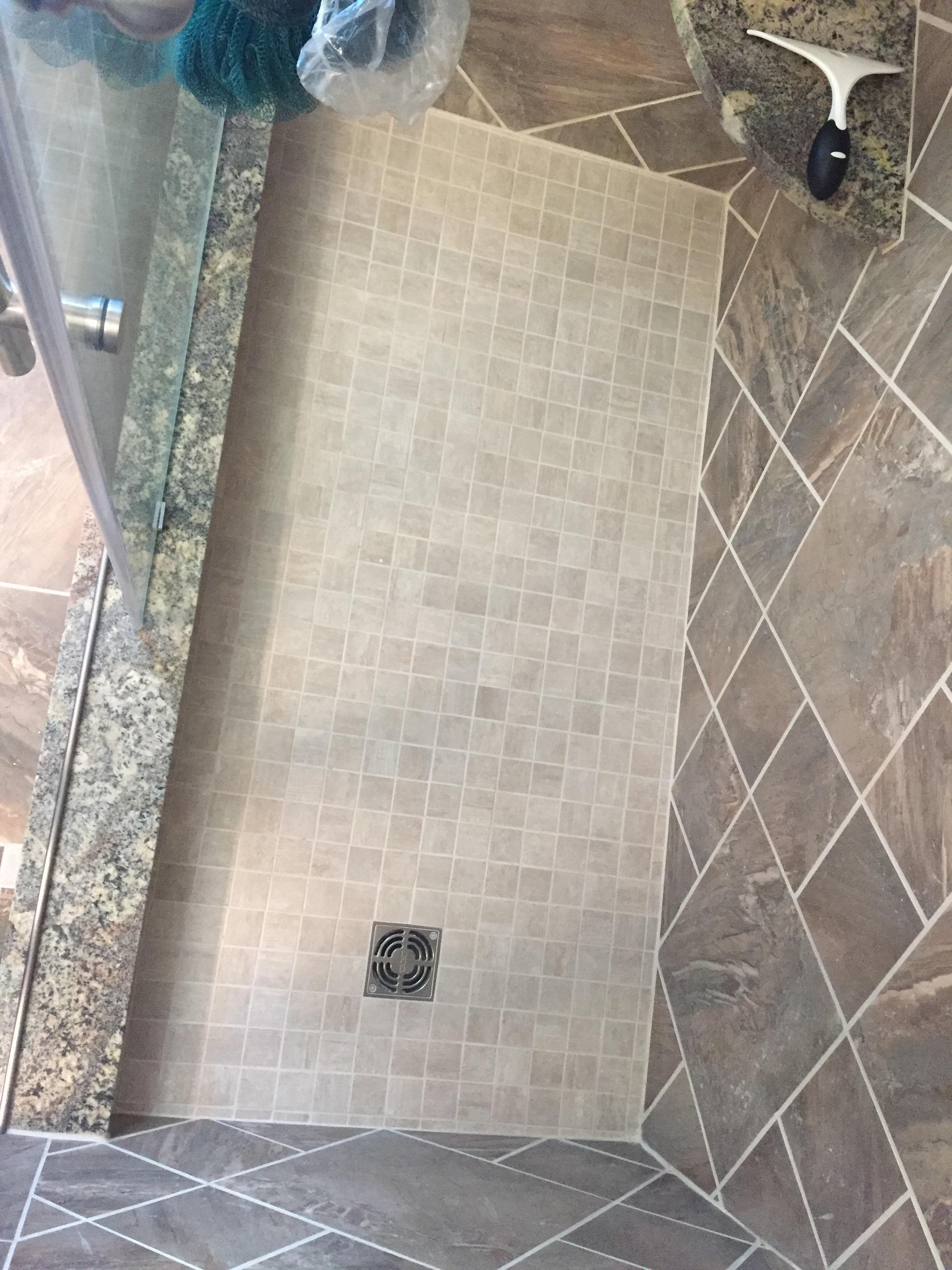 Shower Floor - After