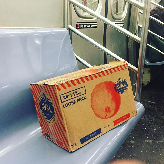 When it's too cold for a Vespa ride, you go underground #aval #cider #mta #newyorkcity #avalmycider
