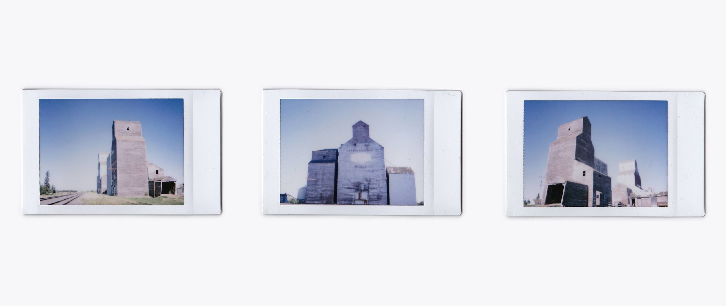 The thriving metropolis from which I came. - inkjet print of instax mini photographs, 18.5 x 44