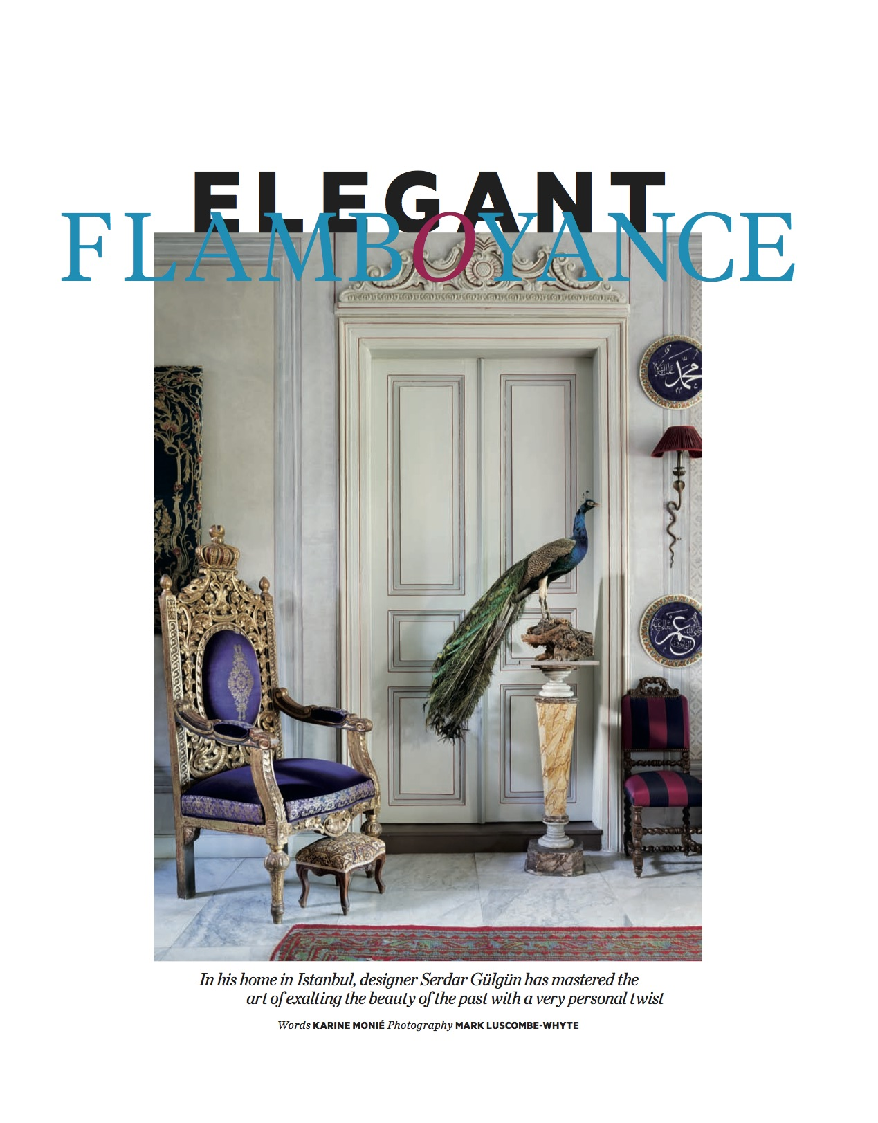 Elegant Flamboyance. AD Middle East