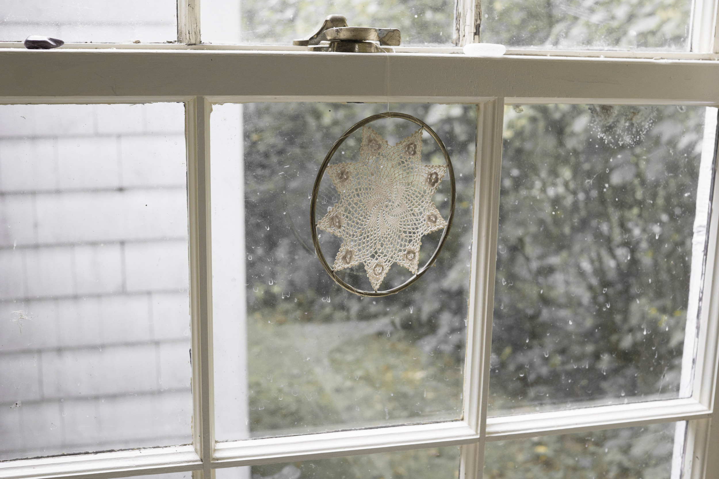 schoolhouse window in maine, 2015.