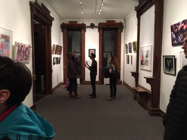The private gallery space, in the Chapter Room, of the DGT Alumni Association's old Fraternity House on Clinton Ave.