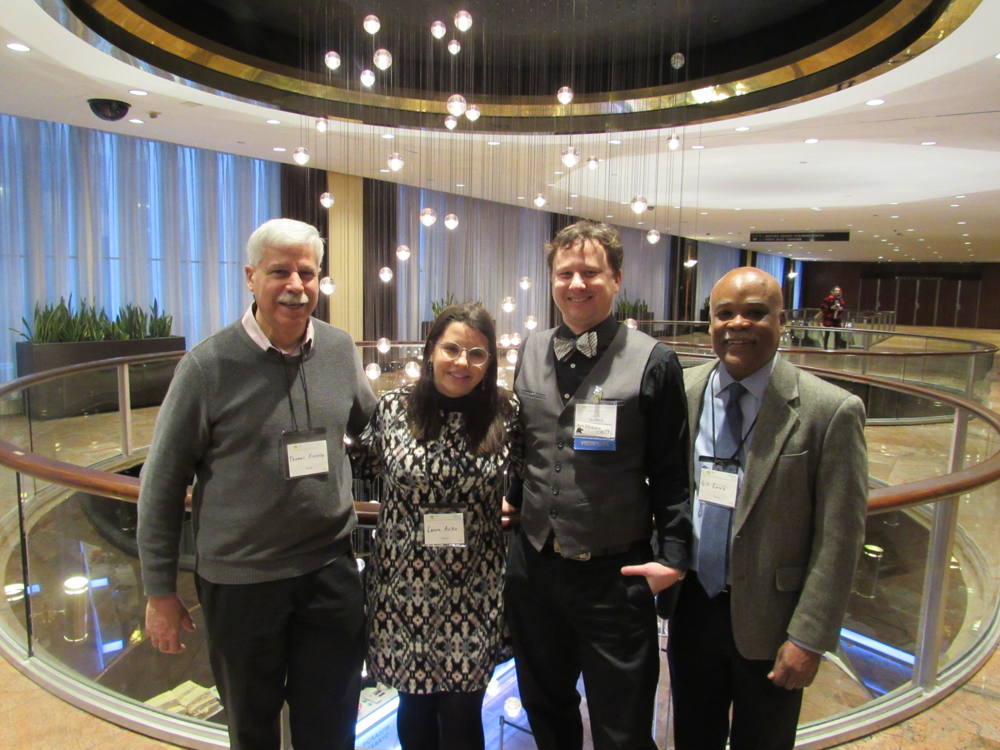 left to right, Tom Fiorella, Laura Arike, Josh Yavelberg, and Gil Gerald at the 107 Annual CAA Conference