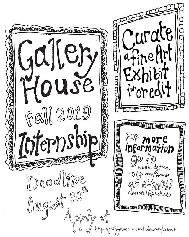 Curate a fine art exhibit at Gallery House over the course of the Fall 2019 semester! Deadline for applications is August 30th. Go to https://galleryhouse.submittable.com to apply — link is in bio