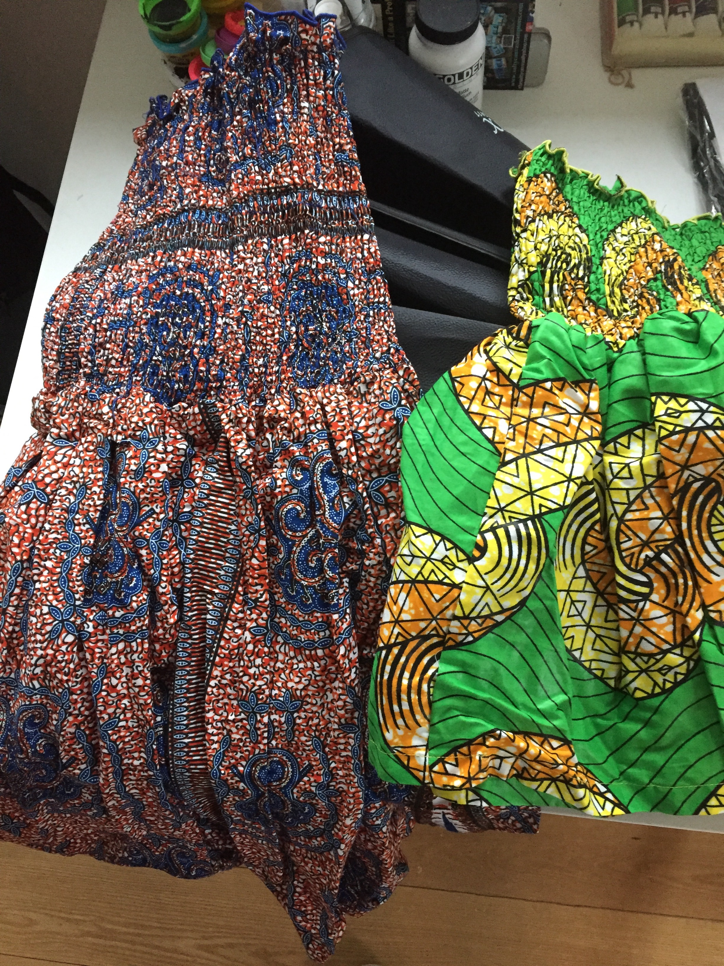 Ghanaian Sun Dresses : Rest of the text goes here.