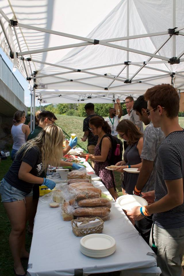 Market Luncheoon - During Orientation week, the TBSA hosted a luncheon offering food from a variety of local vendors