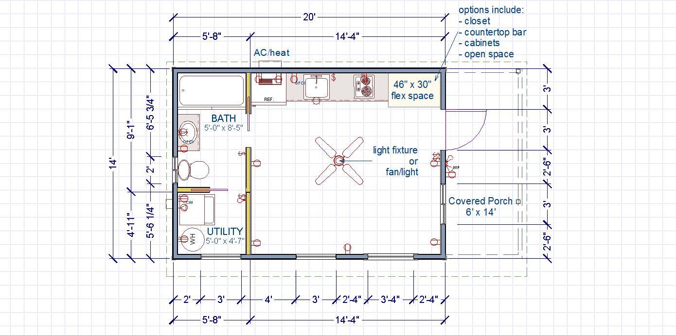 "Side Entry ""Utility"" Floor plan"