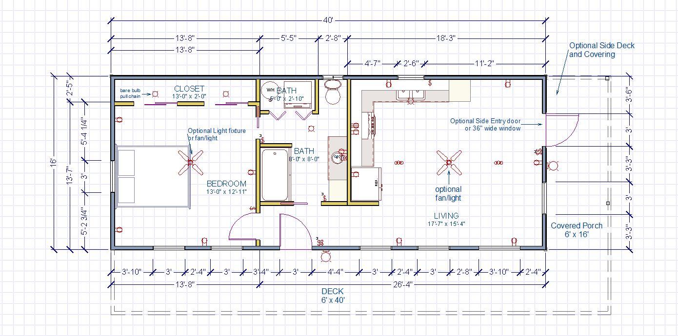 1 bedroom plan